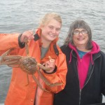 Debra and Jona with Crab